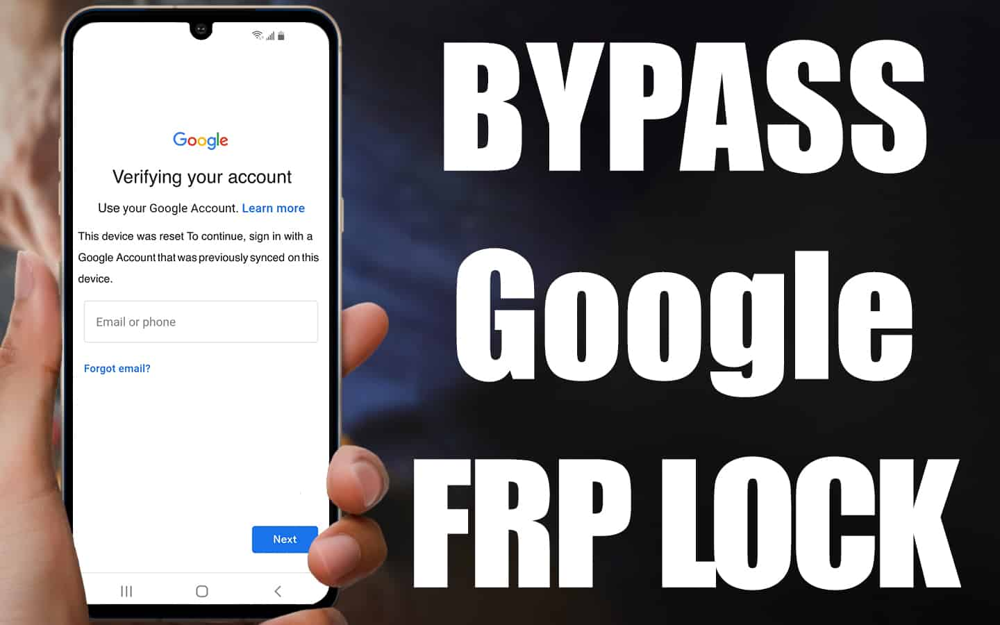 How To Bypass Google Verification On Android Phones